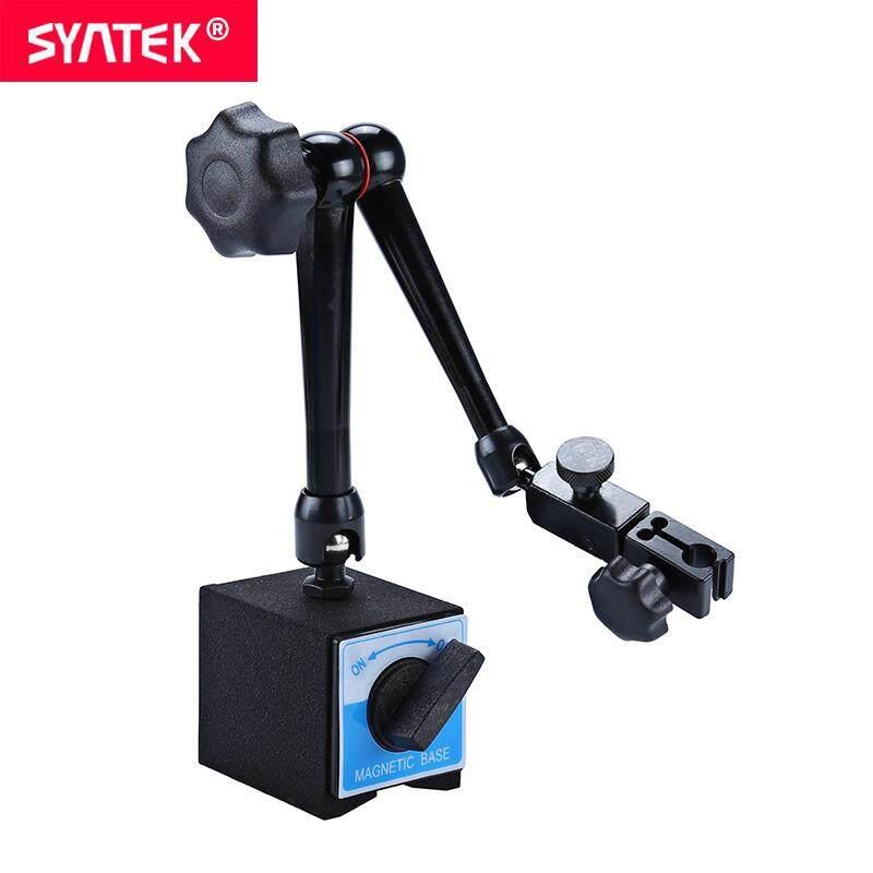 Syntek Standard Universal Adjustable Gauge Stand Holder Magnetic Base Holder Digital Level Dial Test Indicator Tool Holing Power 80kg