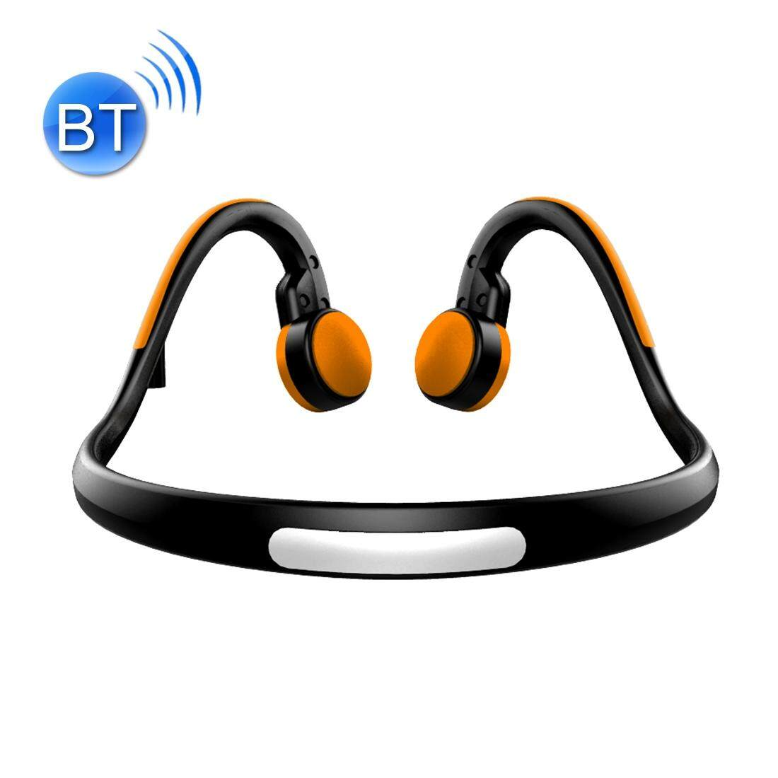 BT-BK Bone Conduction Bluetooth V4.1+EDR Sports Over the Ear Headphone Headset with Mic, For iPhone, Samsung, Huawei, Xiaomi, HTC and Other Smart Phones or Other Bluetooth Audio Devices(Orange)