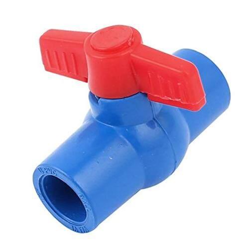 2pcs 20mm Full Port Non slip Handle Lever PVC Ball Valve Blue Red - intl