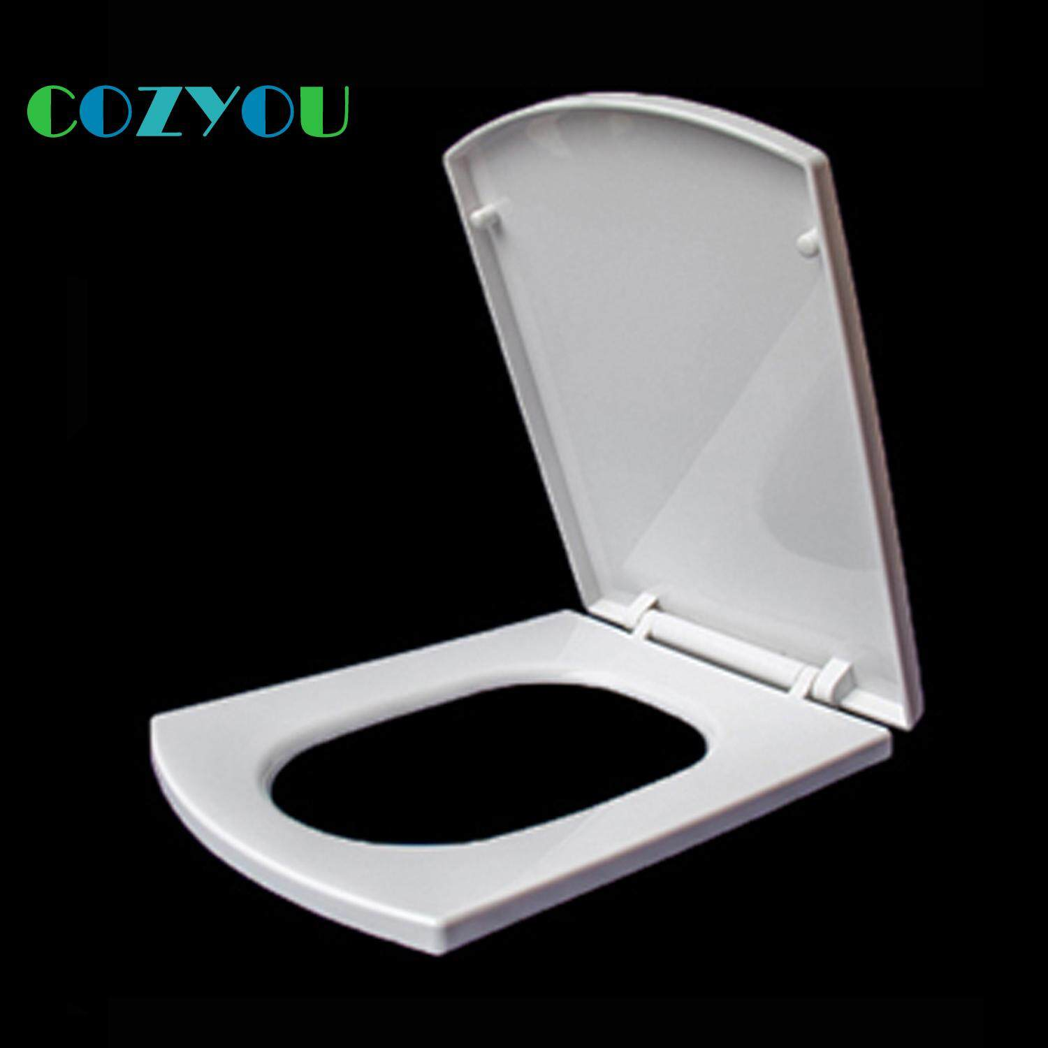 Rectangle Square Toilet seat PP soft Close Quick Release Easy installation Clean length 465mm to 512mm,width 421mm to 441mm GBP17282PF