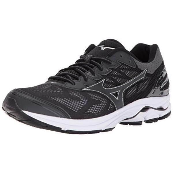 best website 44a0a f77da Mizuno Mens Wave Rider 21 Running Shoe, Black, 10.5 D US