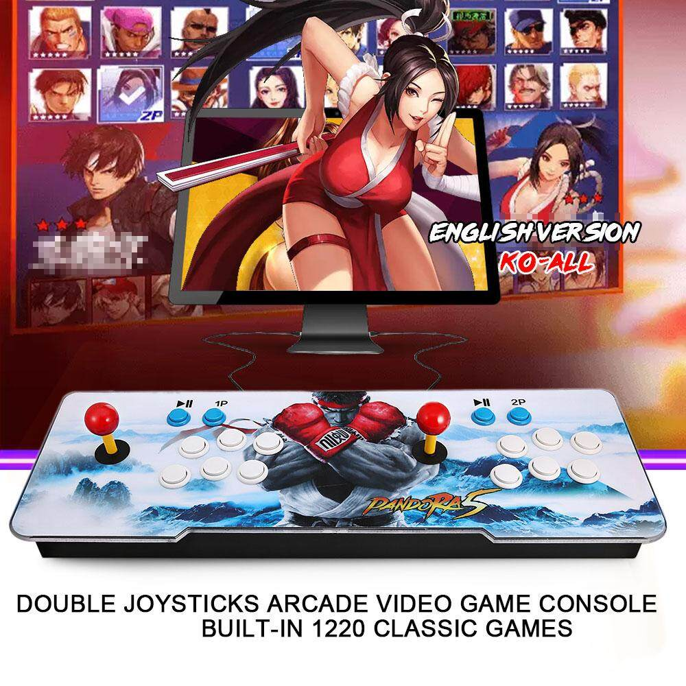 Pandoras Box Arcade Video Game Machine Double Arcade Joystick With 1220 Classic Games Inside - Intl By Tomtop.