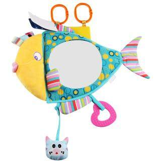 Car Safety Seat Mirror Adjustable View Back Rearview Mirror Baby Infant Cute Fish Shape Plush Toy thumbnail