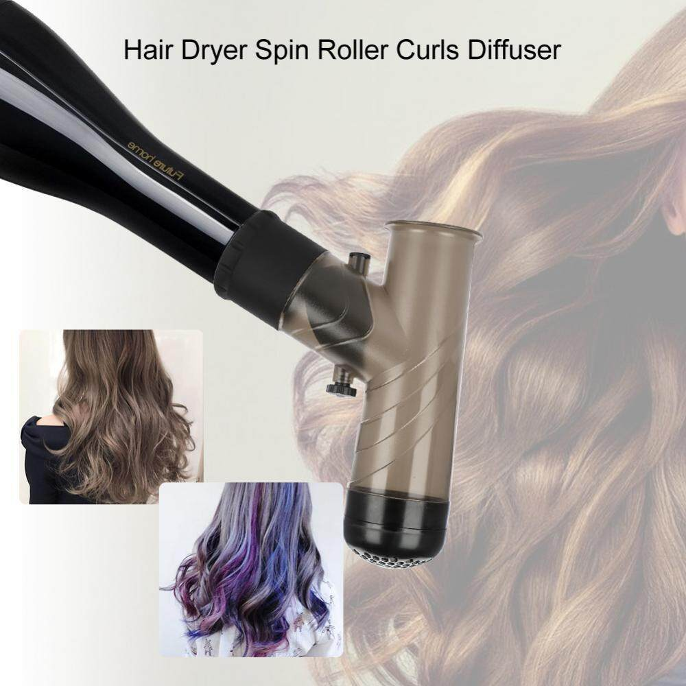 2 Colors Hair Dryer Spin Roller Curls Diffuser Styler Easy Wind Cap Best Gift Home Supplies - intl