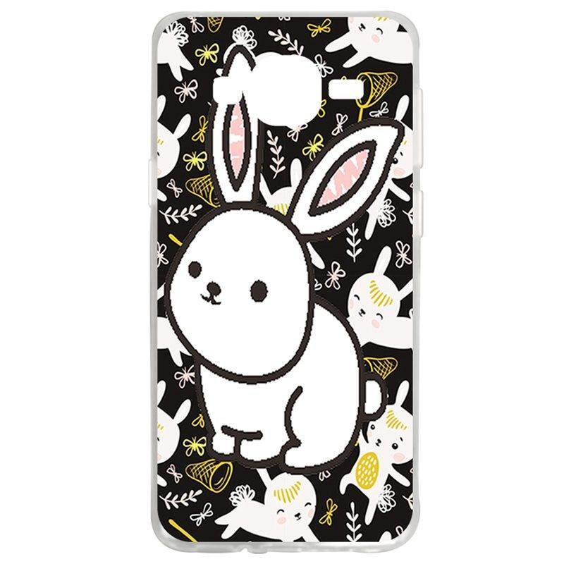 White Rabbit TPU Soft Silicon Phone Case Cover For Samsung Galaxy J2 2016 J210