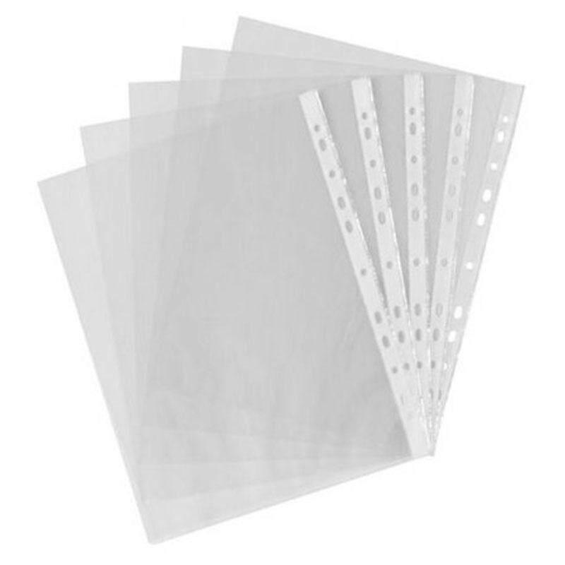Mua 100pcs A4 PP Punched Punch Pockets Folders Filing Wallets Sleeves Bag Transparent 0.04mm - intl