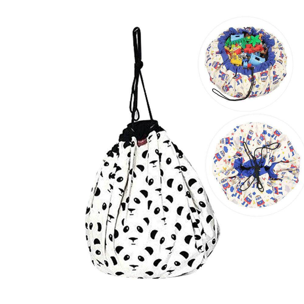 niceEshop Extra Large Stuffed Animal Storage Bean Bag Chair - Stuff n Sit - By Pouf Ottoman For Toy Storage For Kids - intl