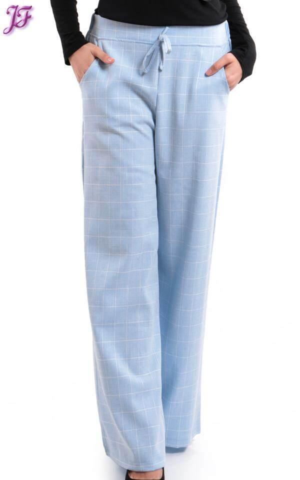 JF Fashion Lily Palazzo Checkered Pant S385