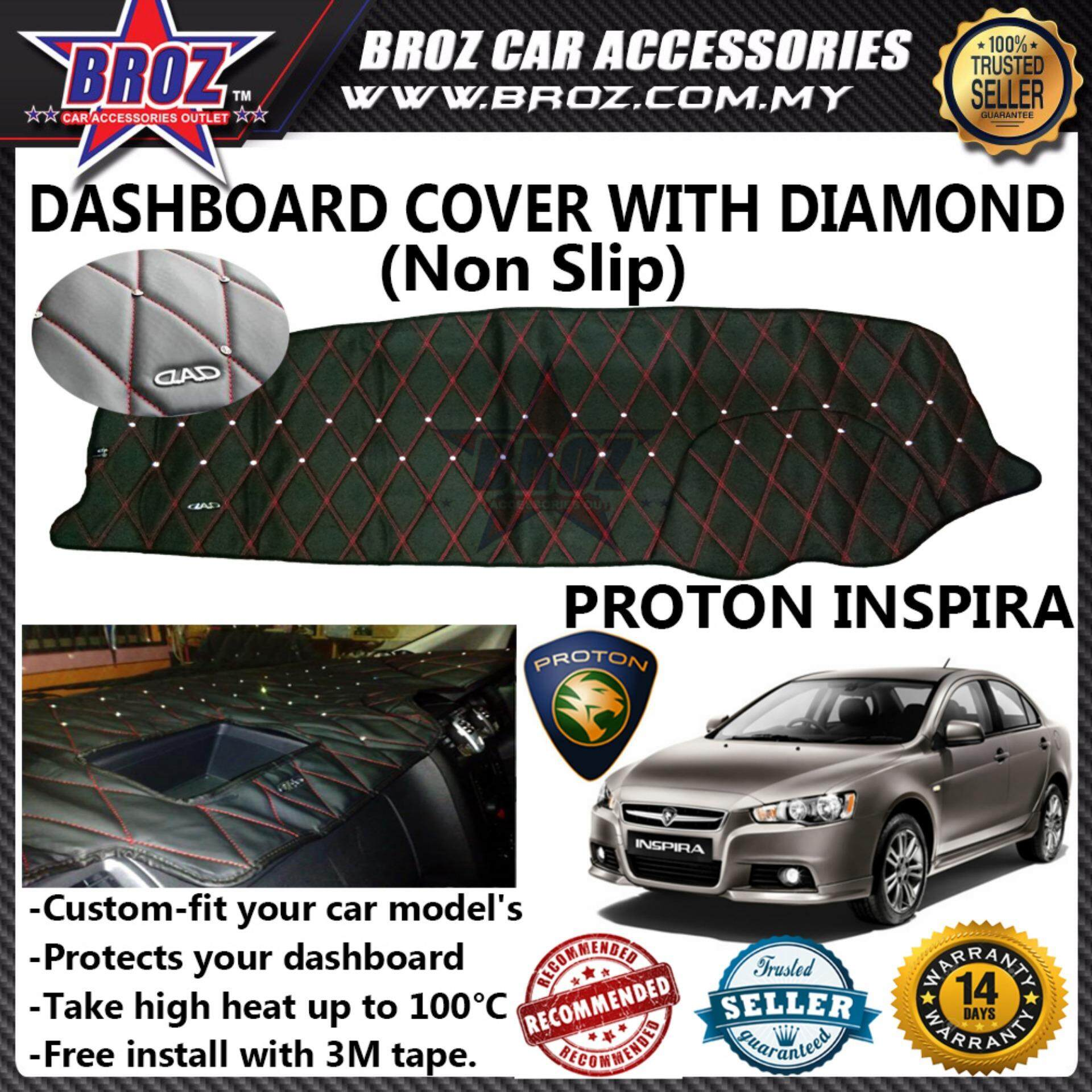 Non Slip Dashboard Cover with diamond for Proton Inspira