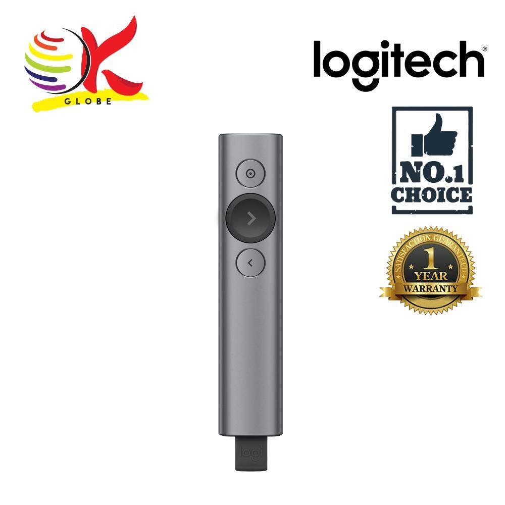 PRESENTER LOGITECH LASER POINTER 2.4GHZ SPOTLIGHT REMOTE (910-004863) SLATE Malaysia