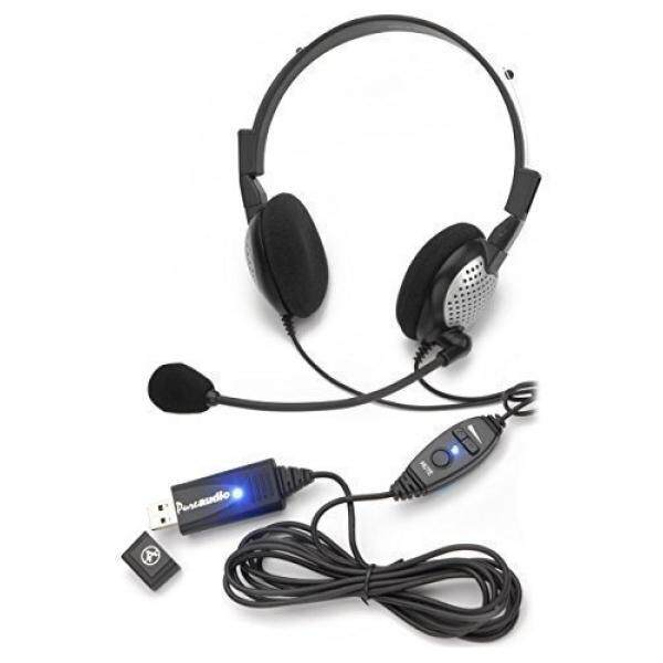 Voice Recognition USB Headset with Noise Cancelling Microphone for Nuance Dragon Speech Recognition Software - intl