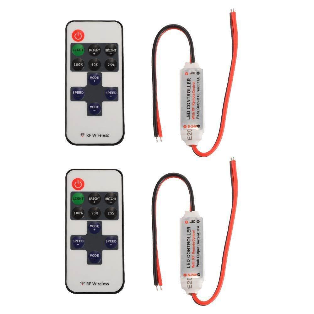 ... kontrol untuk 5050 3528 SMDlampu Strip LED ... Source · 2 Pack 11-Kunci RF Mini Wireless Remote Pengendali Keredupan dengan Konektor DC untuk Satu