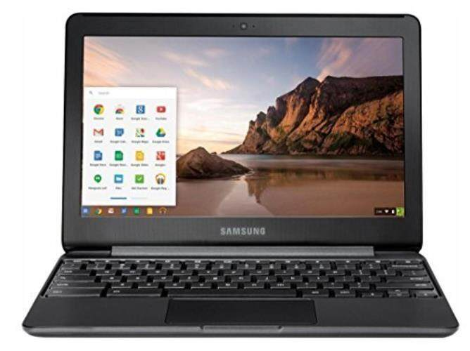 Samsung 11.6Chromebook with Intel N3060 Up To 2.48GHz , 4GB Memory, 32GB eMMC Flash Memory, Bluetooth 4.0, USB 3.0, HDMI, Webcam, Chrome Operating System, Metallic Black - intl