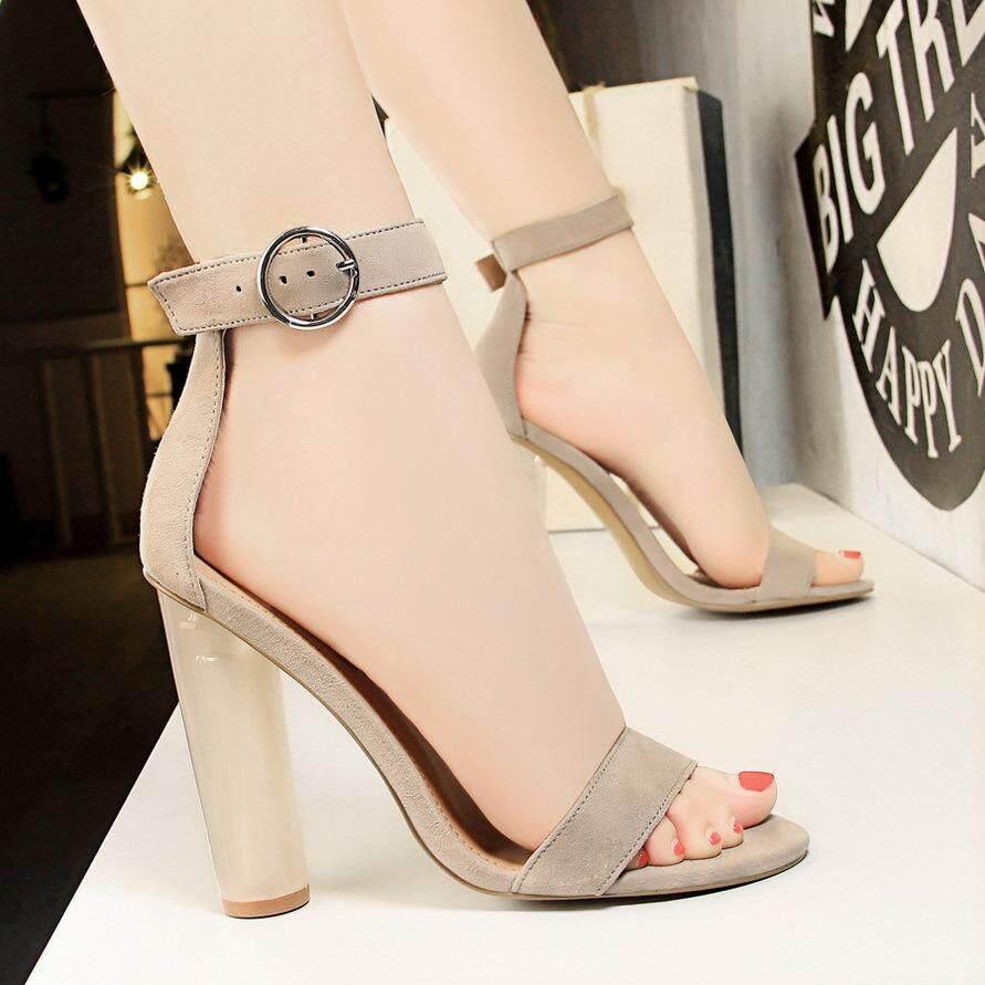 42c53c1a72b 2019 New ✅Fashion High Heels Ankle Strap High-Heeled Shoes Woman Pumps Peep  Toe