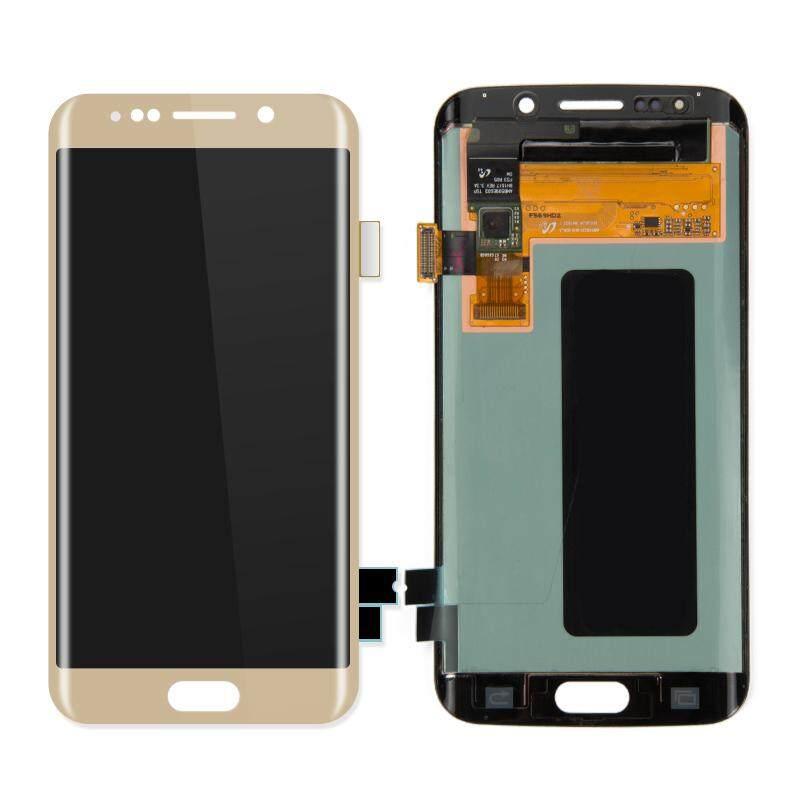 100% Super AMOLED untuk Samsung Galaxy S6 Edge G925I G925F LCD Touch Layar Digitalisasi Perakitan Pengganti Tidak Ada Pixel Yang Mati