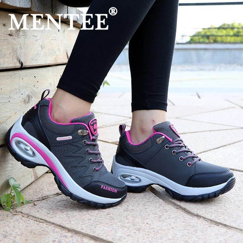 Mentee Ukuran 35-42 Wanita Sepatu Mendaki Sepatu Kets Bantalan Udara  Meningkatkan Sepatu Kasual Sepatu 07ee0c1b59