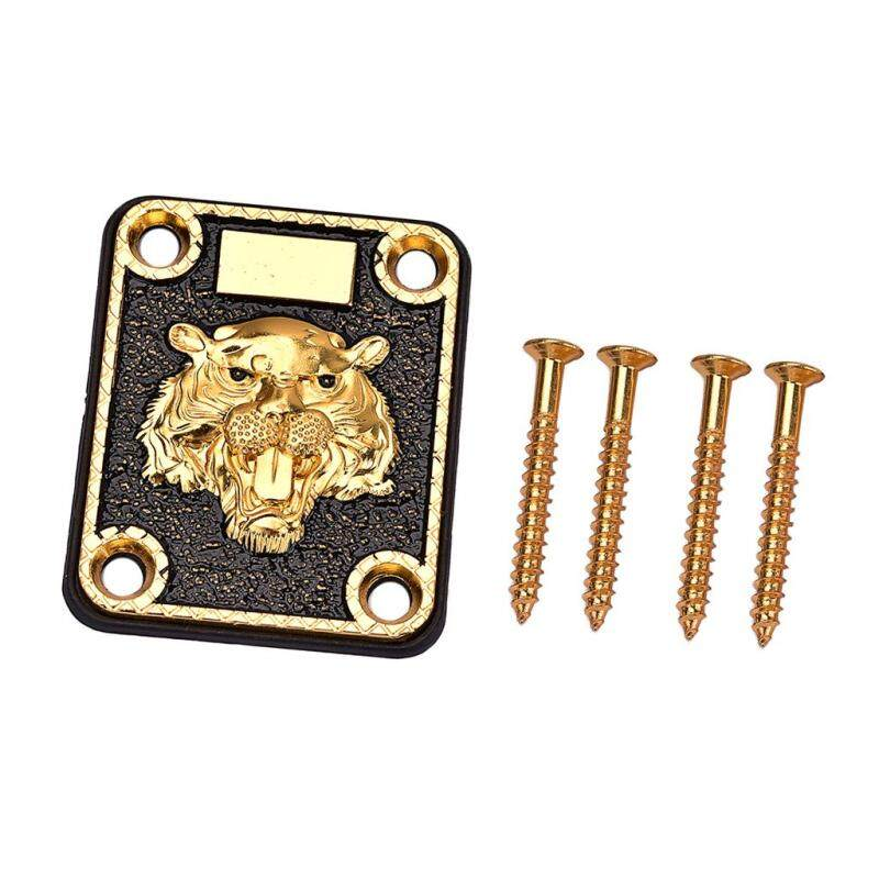 Miracle Shining 1 Set Guitar Neck Plate for Electric Guitar Replacement Golden Malaysia