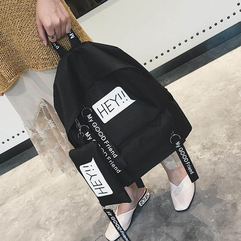No good no money 2017 new style of backpacks stayed overnight 100 to take a male female student of English breeze in the college of letter of alphabet at first schoolbag son the mother wrapped a small shoulder bag