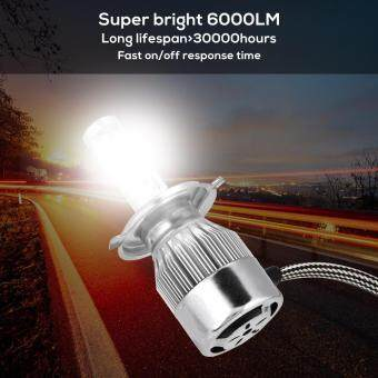 1 Pair Car LED Headlight  36W 6000LM  Head Lamp Bulbs Kit White 6000K  9004
