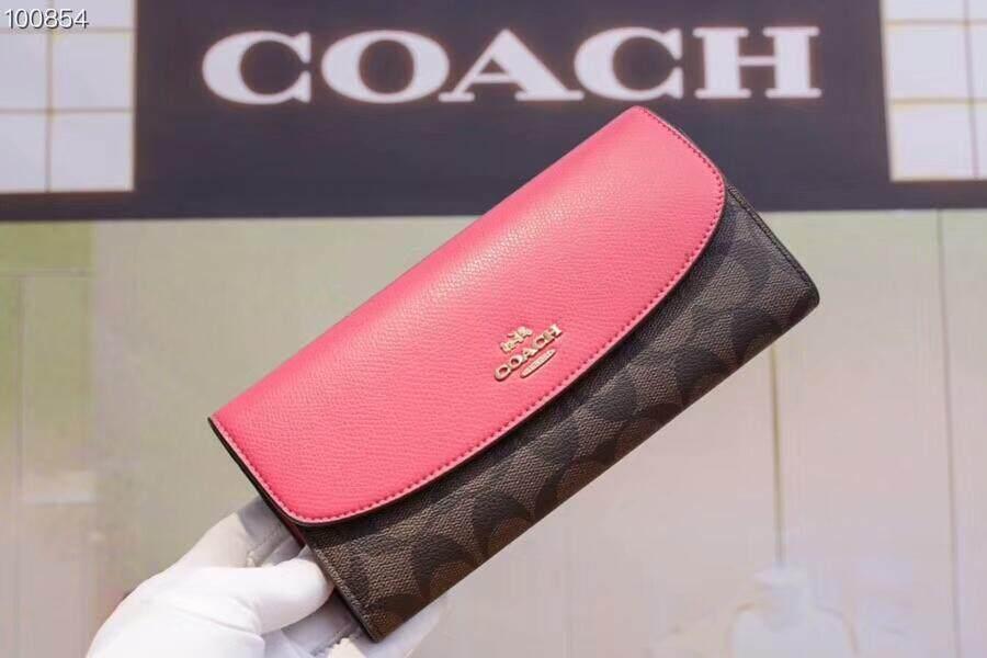 Coach multi-functional women s envelope purse cow leather da1ddd0ed5907