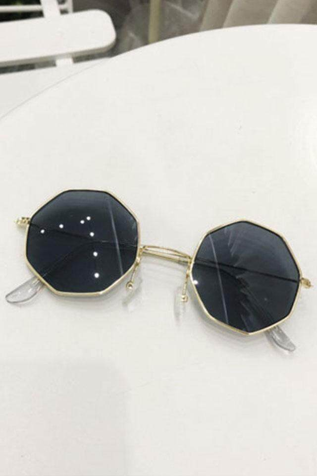 Hong Kong transparent octagonal glasses Korean version ins male and female personality marine lens sunglasses wild