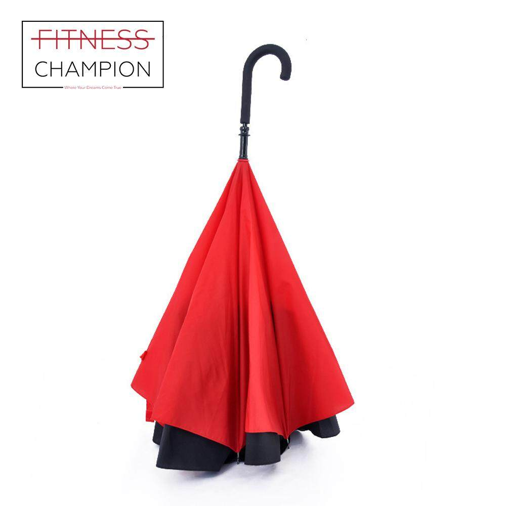 FITCHAMP: Creative Quality Upside Down Folding Umbrella (Red)