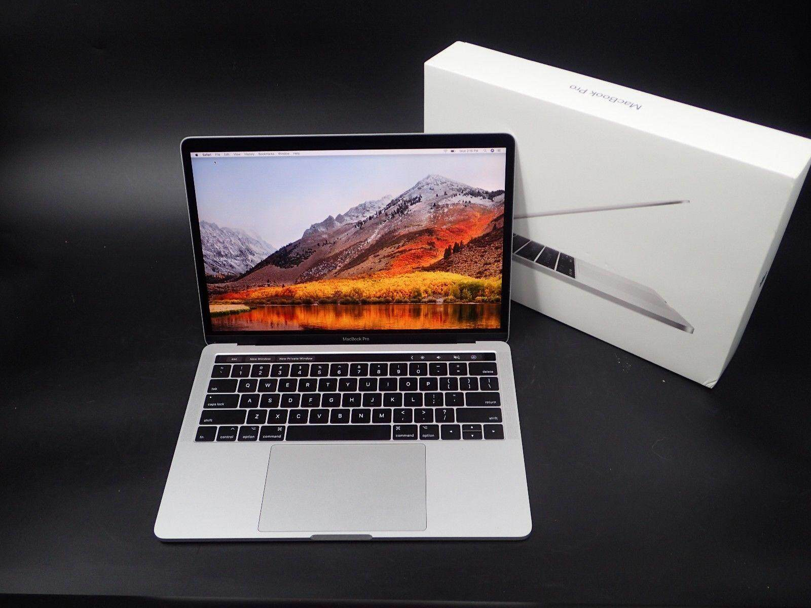 """2017  Pro Touch Bar Silver 13"""" Laptop 512GB Warranty EXCELLENT Malaysia"""