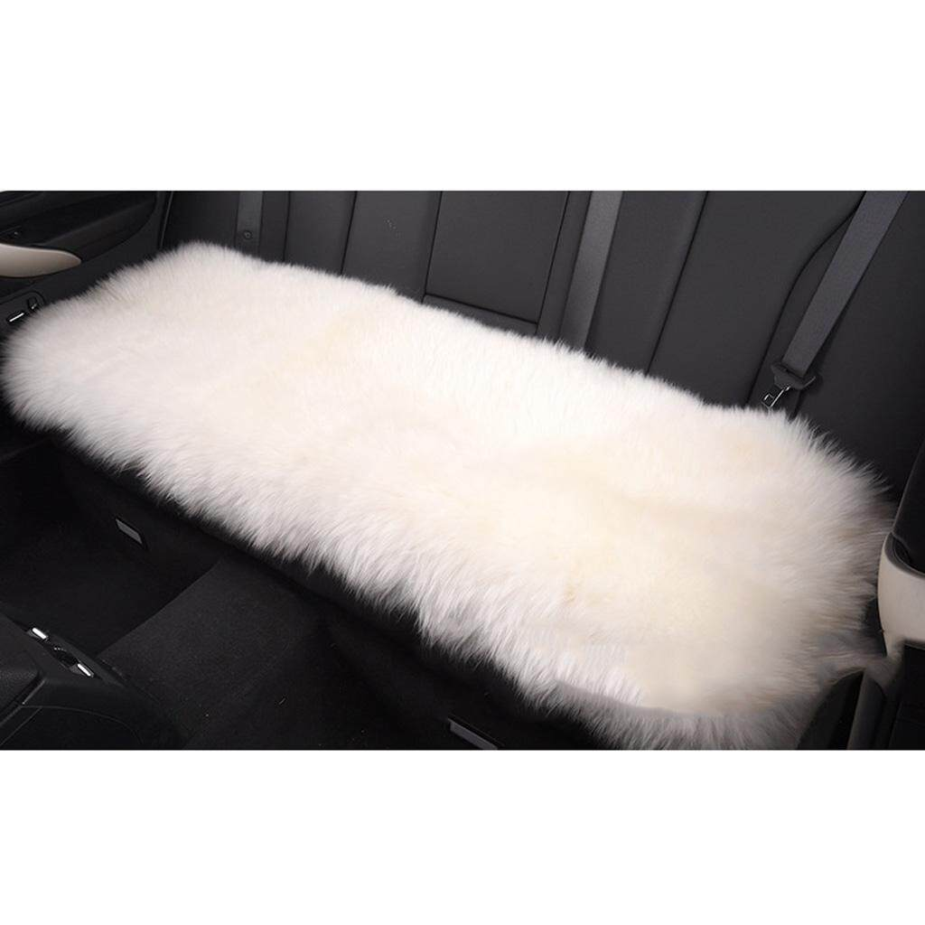 Fityle Artificial Sheepskin Rug Fluffy Home Floor Carpet Soft Seat Cushion White