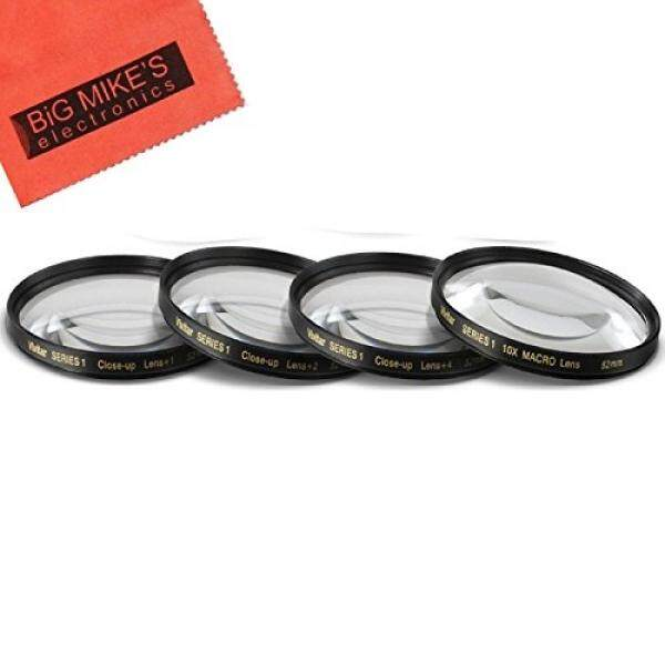 52mm Close-Up Filter Set (+1, +2, +4 and +10 Diopters) Magnificatoin Kit for Nikon D3100, D3200, D3300, D5100, D5200, D5300, D5500 with NIKKOR 18-55mm f/3.5-5.6G VR II Lens