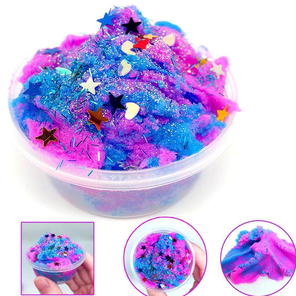 KENDETY 60ML Multicolor Stars Mixing Cloud Slime Putty Scented Stress Kids Clay Toy