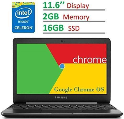 2017 Samsung Chromebook 11.6'' HD LED (1366 x 768) Display, Intel Dual-Core Celeron 1.6GHz Processor, 2GB RAM 16GB eMMC SSD, Bluetooth, WiFi, HDMI, Webcam, Up to 11hrs Battery Life, Chrome OS