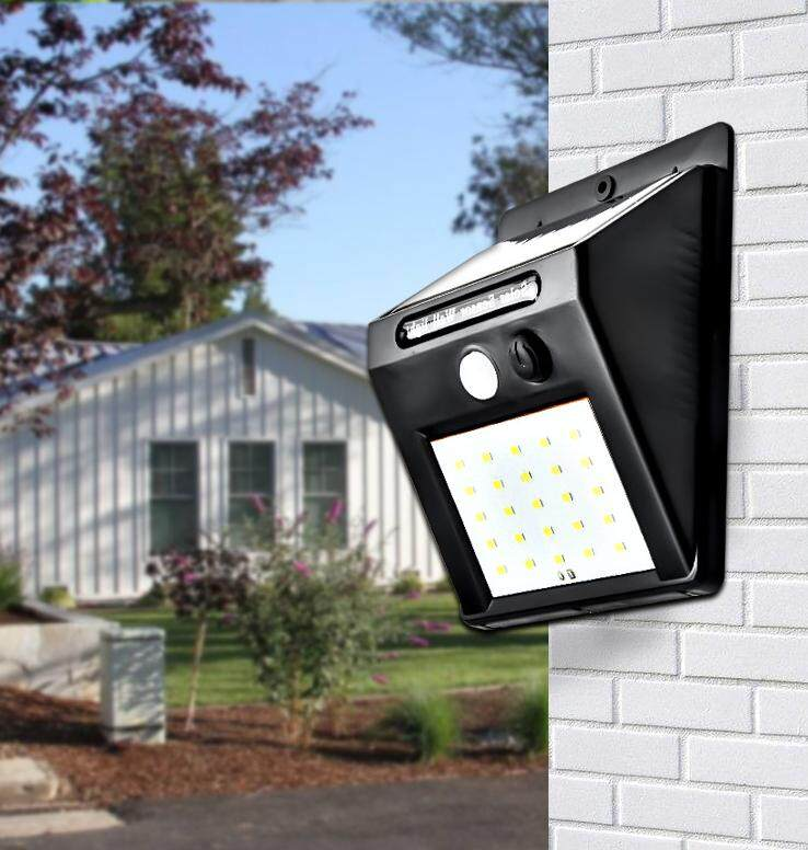 Yuanke 20 LED Solar Lights Outdoor , Waterproof Solar Powered Motion Sensor Light Wireless Security Lights Outside Wall Lamp for Driveway Patio Garden Path(1/2/4/5 pcs )