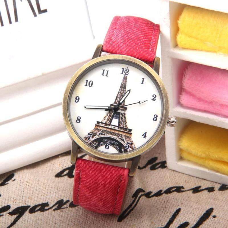 Heygo Foreign Trade European and American Fashion Retro Watch Paris Tower Pattern Student Leather Quartz Watch Malaysia