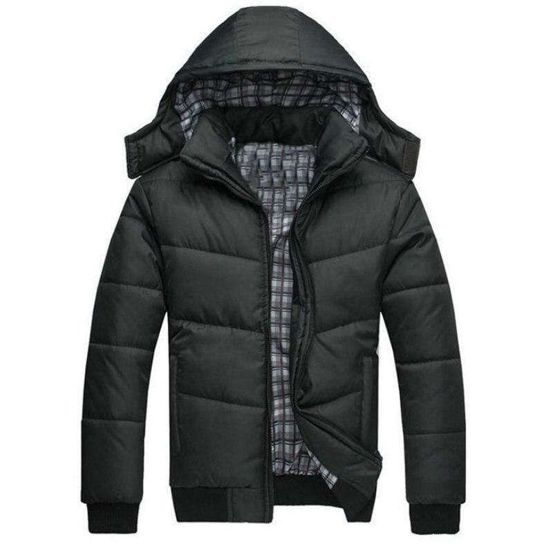 M-2XL Winter Berkerudung Jaket Jaket Pria Pria Mantel Musim Dingin Merek Pria Pakaian Pria Casacos Masculino Mantel Musin Dingin Tebal 2018