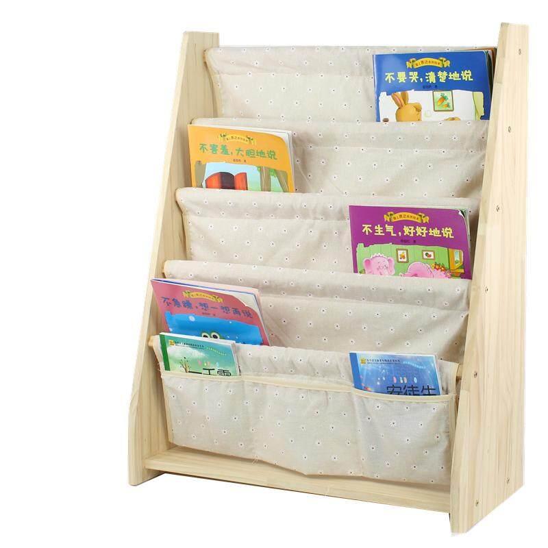 RiYuYu - Kids Book Rack Storage Bookshelf, Natural solid wood Floor Bookshelf with Book Shelves, Log Home Furniture Organizer Storage Cabinet Bookcase