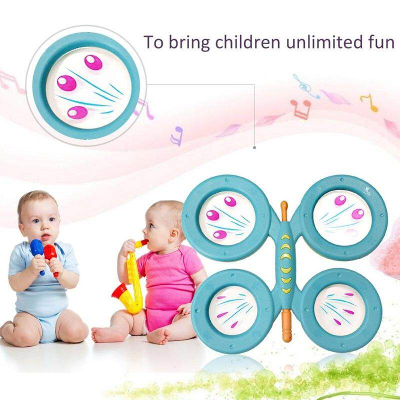 OH Orffworld Butterfly Drum Plastic Cartoon Drum Kids Musical Instrument Toy - intl