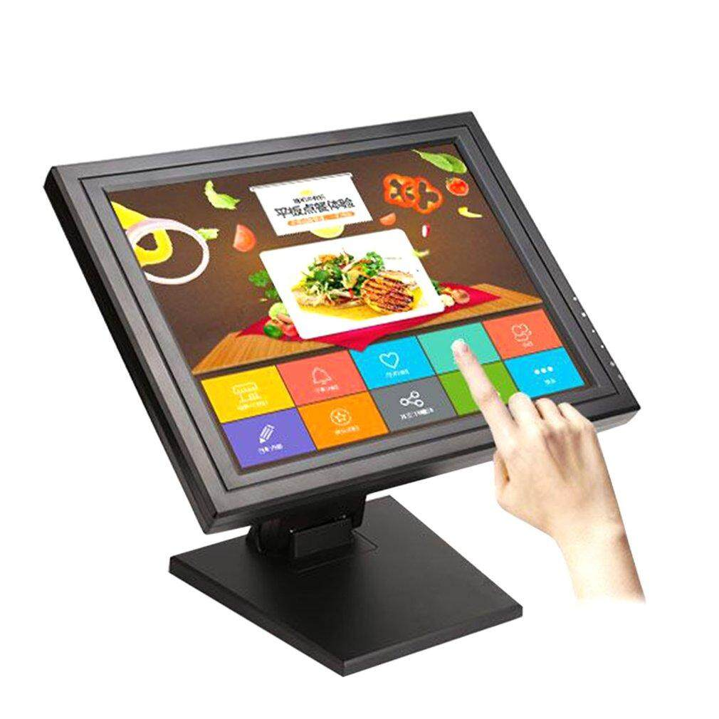 15 Inch TFT LED Screen Display Touch Screen Monitor for Restaurant Retail Bar black US plug Malaysia