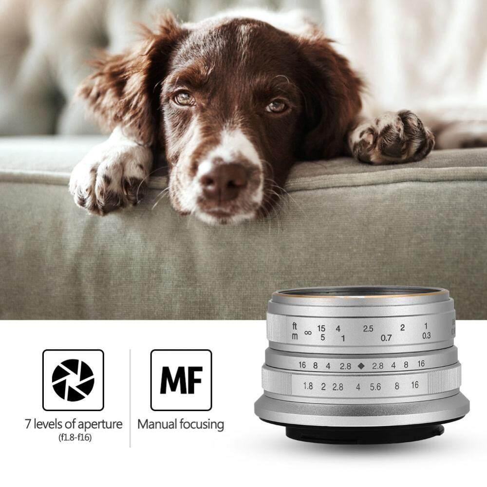 25 Mm F1.8 Apertur Manual Lensa Fokus Aksesori untuk Kamera Mirrorless (untuk FUJI)-Intl