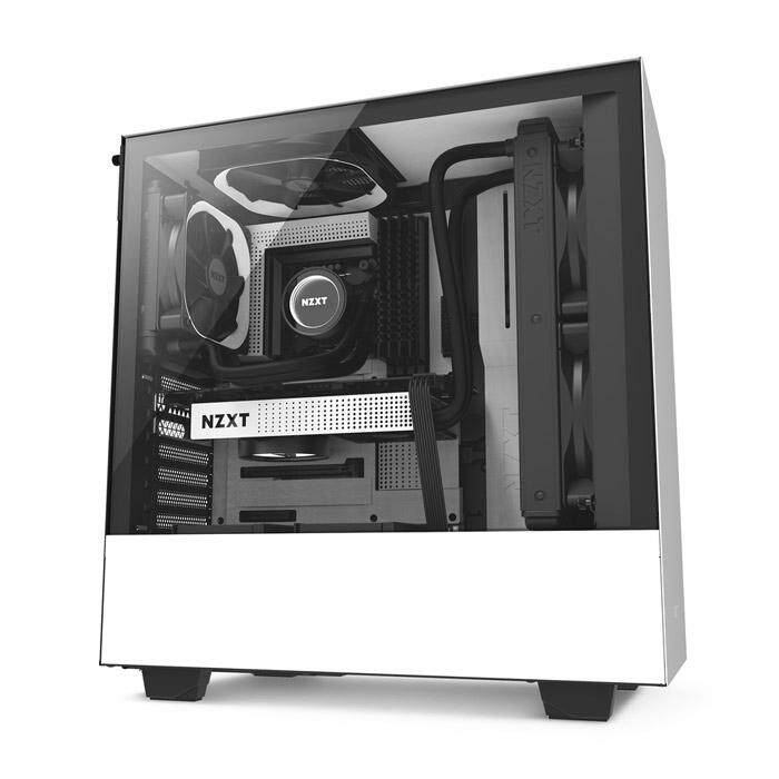 NZXT H500 Mid Tower ATX Case - White Malaysia