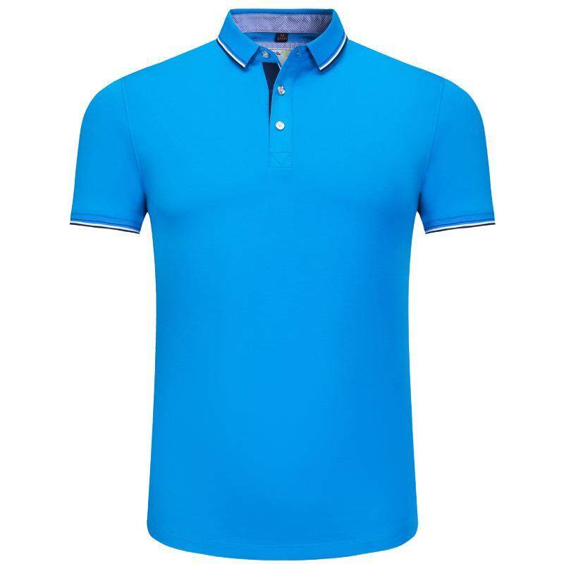 Pure Cotton Polo Shirt Lapel T shirt Advertising Shirt Print Custom Made Short Sleeved Cultural Shirt Work Clothes Embroidery Logo - intl