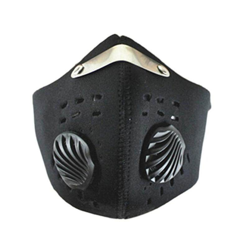 PM2.5 Activated Carbon Riding Mask Hiking Outdoor Sports Anti-pollution City Cycling Masks Black