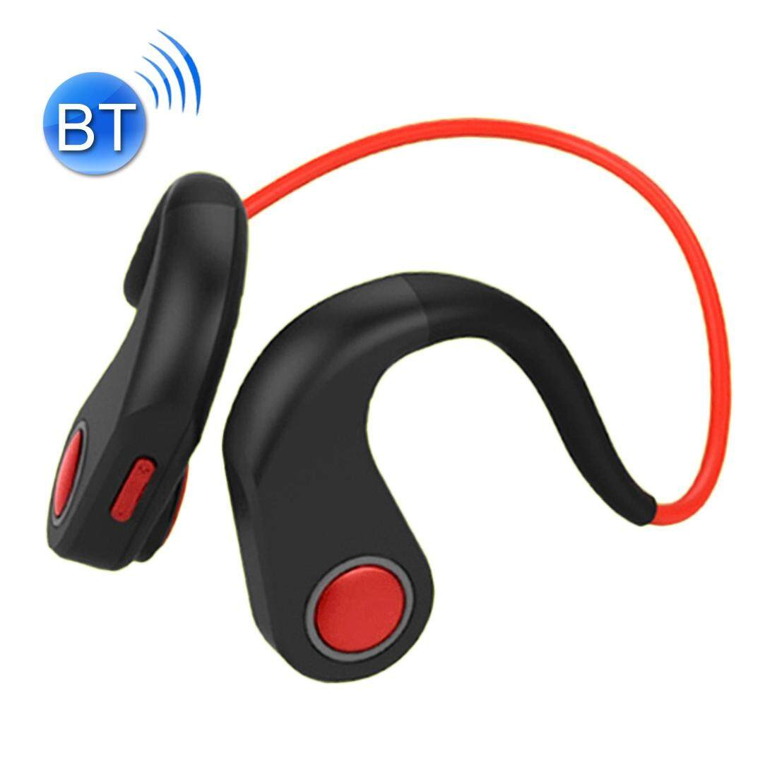 BT-DK Bone Conduction Bluetooth V4.1+EDR Sports Over the Ear Headphone Headset with Mic, Support NFC, For iPhone, Samsung, Huawei, Xiaomi, HTC and Other Smart Phones or Other Bluetooth Audio Devices (Red)