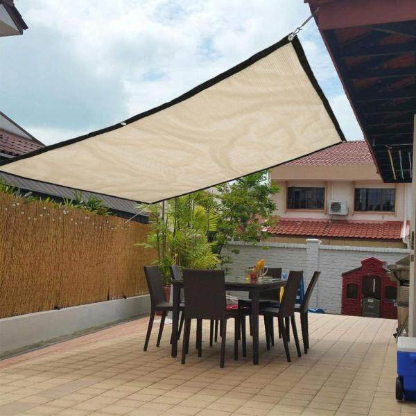 2x1.8m Sun Shade Sail Balcony Bonsai Awning Canopy Sunproof Netting Anti UV Mesh Block Garden Party Courtyard Parking Lot Patio
