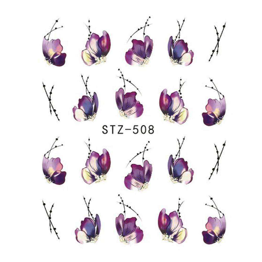 Vintage Flowers Butterfly Water Transfer Art Nail Sticker Manicure DIY Decals