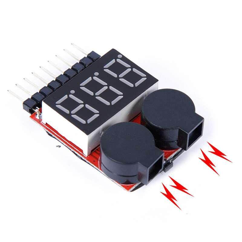 YTRI 1pcs voltage digital Indicator for rc battery Lipo Battery Tester low pressure/voltage alarm battery display - intl