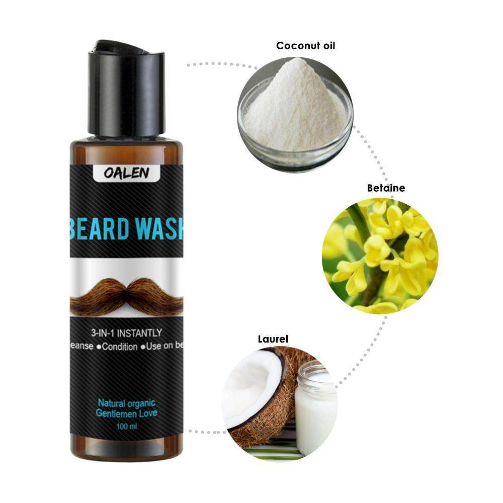 Fitur Niceeshop Men Beard Wash Shampoo Conditioner Professional Clear Shampo Csoft Care 340ml Detail Gambar Caring Moustache Soft Stopping Itch Deeply Cleaning Styling Terbaru