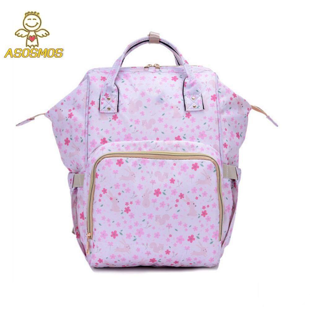 ASM Mommy ความจุมากผ้าอ้อมเด็กกระเป๋าเป้สะพายหลังผ้าอ้อม Nursing Travel กระเป๋าสำหรับดูแลเด็ก ส่งฟรีkerry