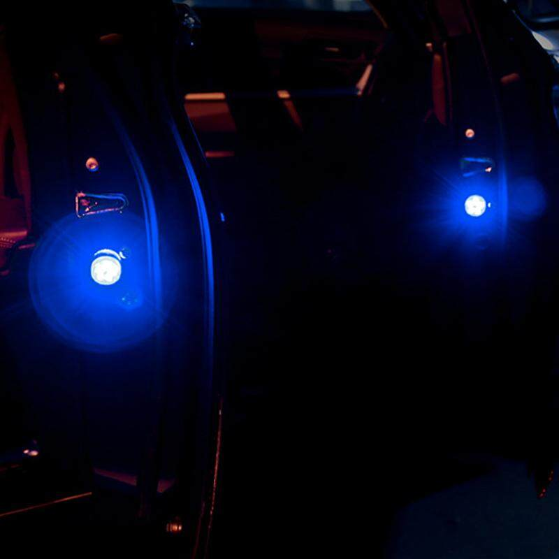2 Pcs Wireless LED Pintu Mobil Lampu Peringatan Dibuka Magnet Pengaman Indikator Dekoratif Menghindari Kecelakaan Strobo Flash Lampu Sinyal untuk Chevrolet Camaro Cruze Lacetti Aveo Captiva Sonic epica Orlando Corsa Malibu Spar-Intl
