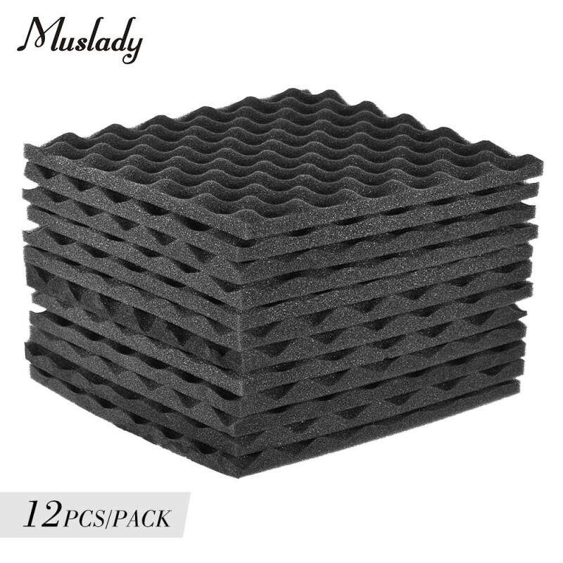 Muslady Studio Acoustic Foams Panels Sound Insulation Foam 30 * 30cm/ 12 * 12in, Pack of 12pcs Malaysia