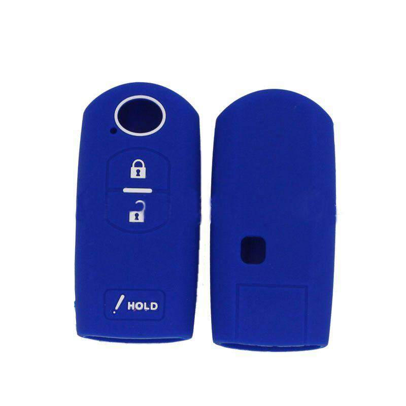 3 Button Silicone Cover Remote Smart Key Case For Mazda Blue.